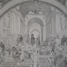 School of Art, Graphite on Paper, 22.5 x 30